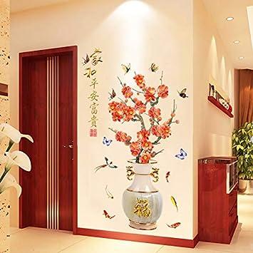 Aha Yo La Chambre Chinoise 3D Vase Autocollant Calligraphie ...