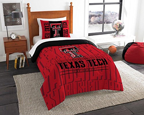 Texas Tech Red Raiders - 2 Piece Twin Size Printed Comforter Set - Entire Set Includes: 1 Twin Comforter (64