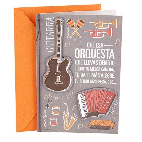 - Hallmark Vida 0499RZM7023 Spanish Birthday Greeting Card (Orchestra)