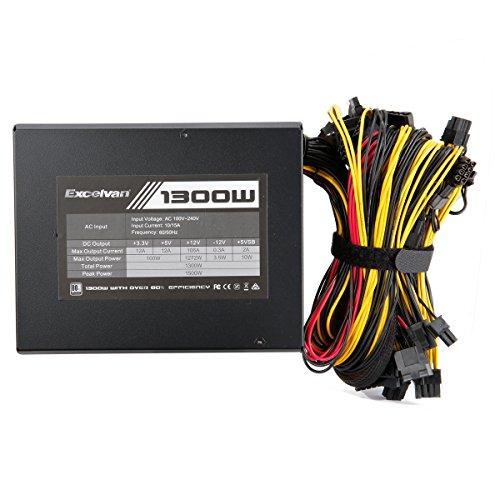 Excelvan Computer Modular Power Supply/PSU for PC/Desktop/ Gaming Computer,1300 Watt 80+ Bronze Certified PSU with Silent Fan,3-Year Warranty by Excelvan (Image #4)