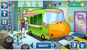 Use coins to buy artistic upgrades for the food truck!