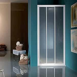 Samo Puerta deslizante 68/76 America Up (b6811l01tr) marco blanco/paneles Cristal Transparente: Amazon.es: Bricolaje y herramientas
