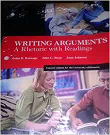 writing arguments a rhetoric with readings Available in: paperback for courses in argument and research the most thorough theoretical foundation available writing.