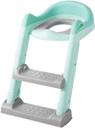 PENGJIE Taburete Asiento de Entrenamiento para niños Escalera Ajustable Taburete Silla de baño con Asas Splash Guard Escabel: Amazon.es: Hogar
