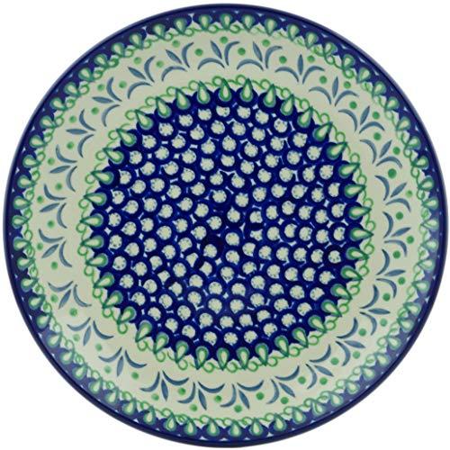 Polish Pottery 10½-inch Dinner Plate made by Ceramika Artystyczna (Fleur De Lis Theme) + Certificate of ()