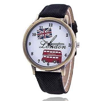 bysor (TM) moda Unión bandera de autobús de Londres Reloj Relogio Feminino Mujer Reloj