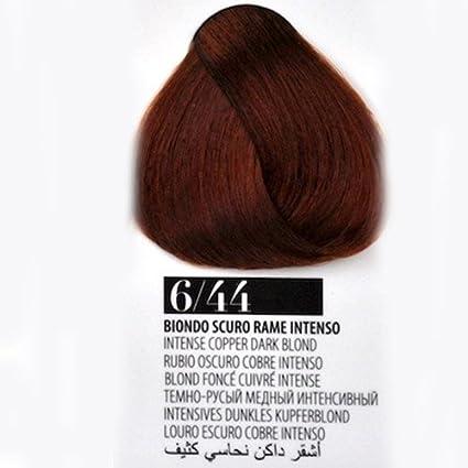 Tinte Pelo 6/44 Rubio Oscuro Cobre Intenso farmagan Hair Color Tubo 100 ml