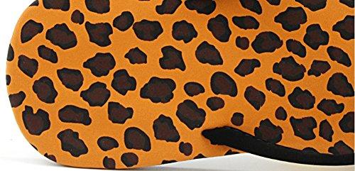 Aisun Womens Classic Comfy Antiskid Flat Beach Flip Flops Leopard KIIfv9CDB