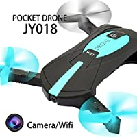 Leewa@ JY018 WiFi FPV Mini Quadcopter, Foldable Selfie RC Drones With 720P HD Camera -APP Control