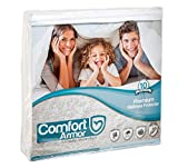 Waterproof Mattress Protector - Mattress Cover King Size by COMFORT ARMOR - Waterproof Mattress Protector - Protect your Mattress against Bedbugs, Dust Mites and Spills - Hypoallergenic and Breathable Vinyl Free Mattress Pad