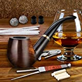 Scotte Tobacco Pipe Handmade Ebony Wood Root