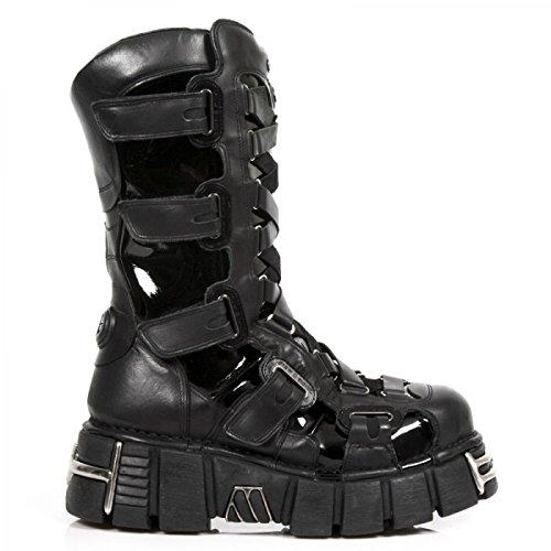 Nuovo Rock A Mano M 189 C2 Schwarz Stiefel Unisex