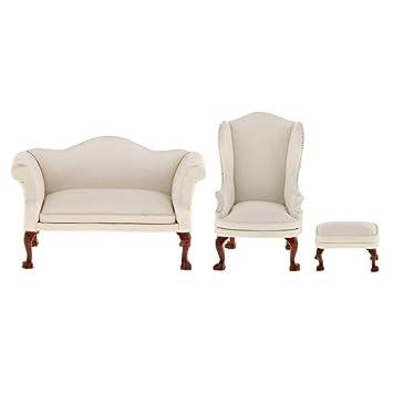1//6 Scale Sofa Single Couch Furniture Model Dolls House Furniture Decor Kids