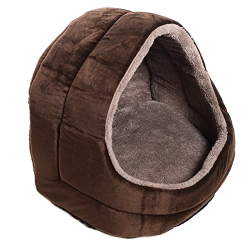 Milliard Premium Comfort Plush Cat Cave and Pet Bed - Small Size for Small Pets (House Cat Plush)