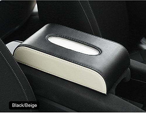 Luxury Faux Leather Household Car Tissue Box Cover Paper Napkin Holder Case