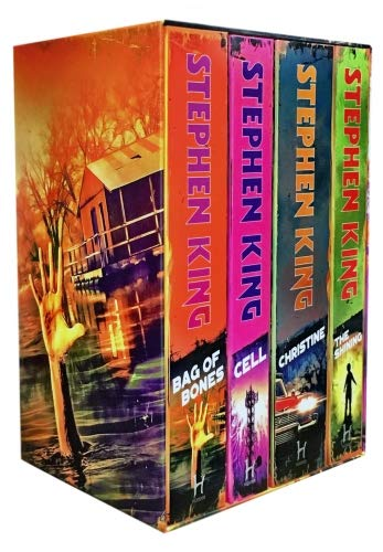 Stephen King Classic Collection 4 Books Box Set (The Shining, Bag of Bones, Christine, Cell) -
