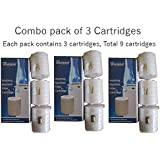 Whirlpool'S Genuine Accessories Cartridges For Washing Machine Filter, 9 Cartridges (Pack Of 3, Each Pack Contains 3 Cartridges)