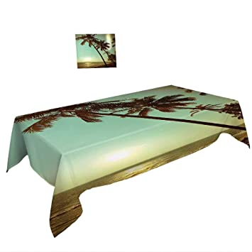Amazoncom Warm Family Spring Summber Tablecloth Palm Tree Decor - Palm-tree-furniture-from-pacific-green