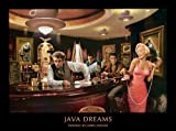 james dean chris consani - Java Dreams James Dean Marilyn Monroe Elvis Presley Bogart by Chris Consani Movie Stars Hollywood Print Poster 24x32
