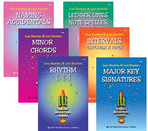 Key Signatures Chords (Bastien Theory Boosters: 6 Book Set (6 Book Set, Rhythm 2/4, 3/4, 4/4 (KP30), Ledger Lines Note Speller (KP28), Intervals Through A Fifth (KP26), Naming Accidentals (KP29), Major Key Signatures (KP21), Minor Chords (KP24)))