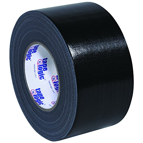 "BOX USA BT988100B Black Tape Logic Duct Tape, 10 mil, 3"" x 60 yd. (Pack of 16)"