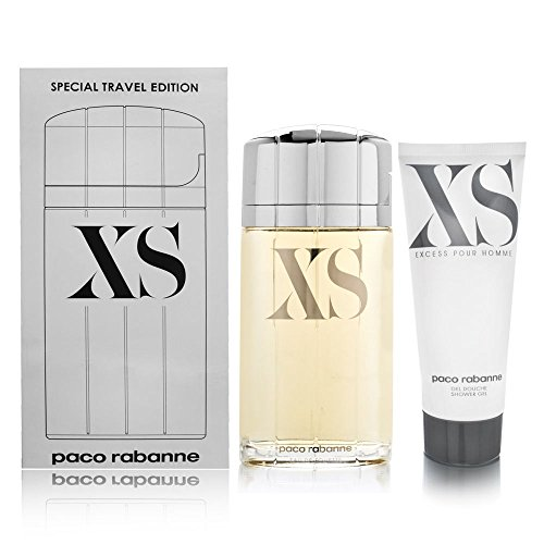 Paco Rabanne XS 2 Piece Set Eau de Toilette Spray, Shower Gel for ()