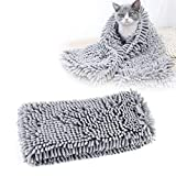 Pet bath towel,RilexAwhile,Pet drying towel,Ultra Absorbent Multipurpose pet quick dry towel with durable 31 x 14 Size for Dogs & Cats,Quick Drying Chenille Fabric ,Designed for Indoor and Outdoor Use