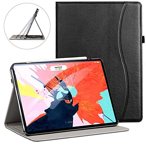 Ztotop for iPad Pro 12.9 Case 2018, Premium Leather Slim Stand Cover Folio Case for 2018 iPad Pro 12.9-inch 3rd Generation (Latest Model) with Auto Sleep/Wake, Pencil Strap Holder - Black