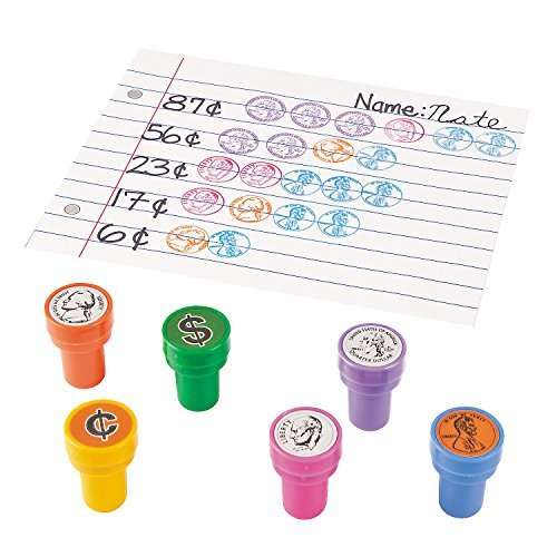 Amazon.com: Teaching Coin Stampers, Multicolor (Set of 6 Different ...
