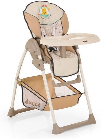 Hauck//Sit N Relax//Chaise Haute B/éb/é 3 en 1// Transat B/éb/é et Chaise pour Enfants//avec Position Couch/ée//avec Arc Jeu Plateau Repas Rose Roues//R/églable en Hauteur///Évolutive// Pliable// Birdie