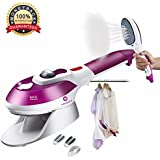 Portable Garment Steamer for Clothes /Travel Iron/Handheld Fabric Steamer, Household Steamer, Steam Humidifier Handy Vapor Steamer to Iron Clothes Fast Heat-up for Home Travel Purple,Valentine Gift