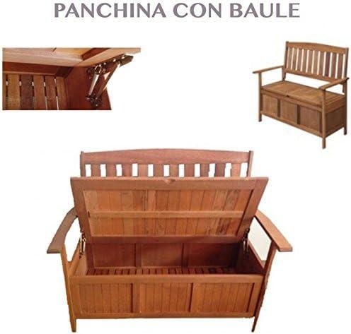 professional Banco Jardín Madera Banco con Recipiente para Muebles ...
