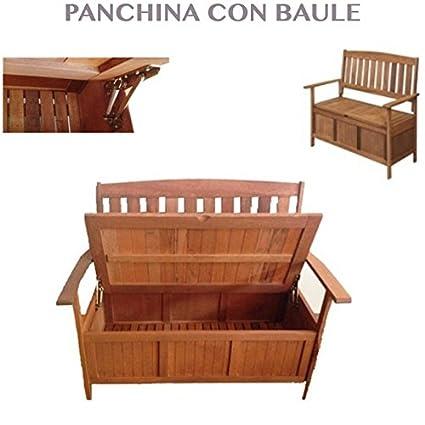 Panche Contenitori Da Esterno.Professional Panchina Giardino Legno Panca Con Contenitore Per