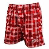 Detroit Red Wings Men's Plaid Boxer Shorts