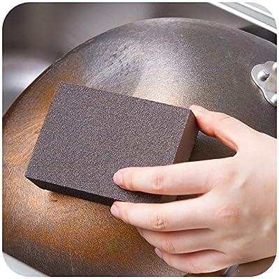 Zehui Cleaning Sponge Carborundum Fine Flexible Descaling Clean Magic Brush Sanging Sponge Maroon Household Cleaning 10PCS