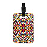 Kess InHouse Danny Ivan Stained Glass Decorative Luggage Tag, 4 by 4-Inch