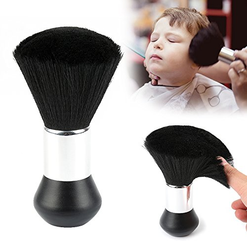 Mehrfach verwendbar Haar sauber Rasierpinsel Friseur, Hals Duster Weich Salon Haar Bürste Werkzeug, Schwarz Tianu