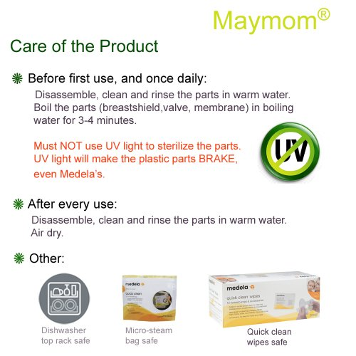 Maymom Breast Pump Accessories for Medela Pump In Style Pumps, 27 mm Large Breastshields & Other Pump Parts