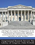 Crs Report for Congress, John Frittelli, 1294245988