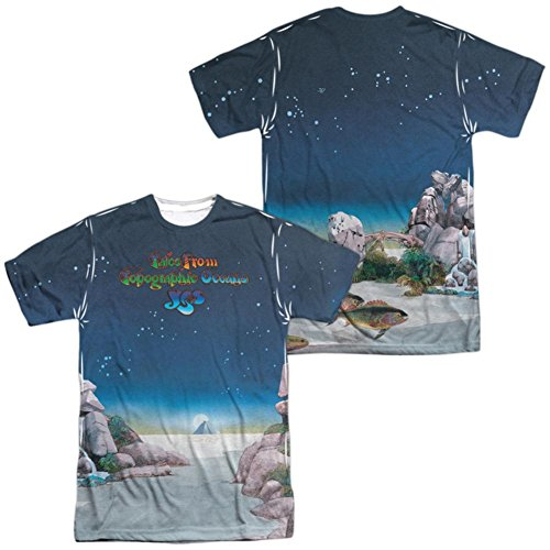 (Yes- Topographic Oceans (Front/Back) T-Shirt Size XXL)