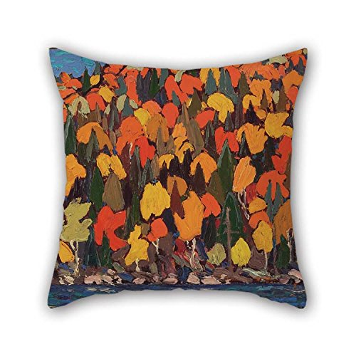 Oil Painting Tom Thomson - Autumn Foliage Cushion Covers Best For Adults Club Lover Kids Boys Boys Dinning Room 18 X 18 Inches / 45 By 45 Cm(both (Frog Crown Rocker)