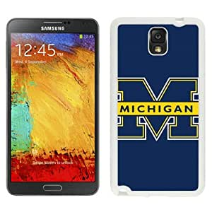 Michigan Wolverines White Abstract Design Custom Samsung Galaxy Note 3 N9005 Case