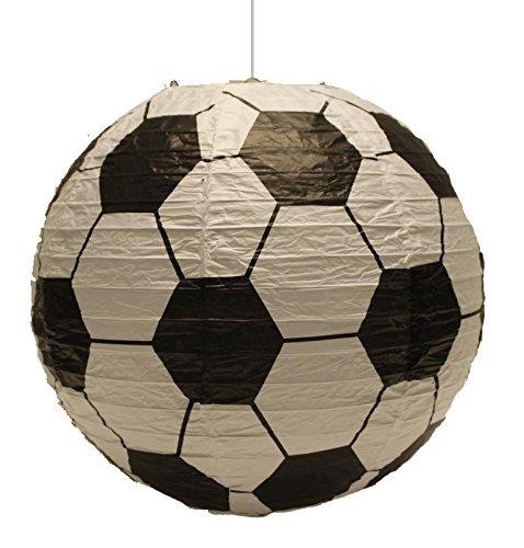 Spearmark - Pantalla de papel para lámpara de techo colgante, diseño de balón de futbol, color blanco