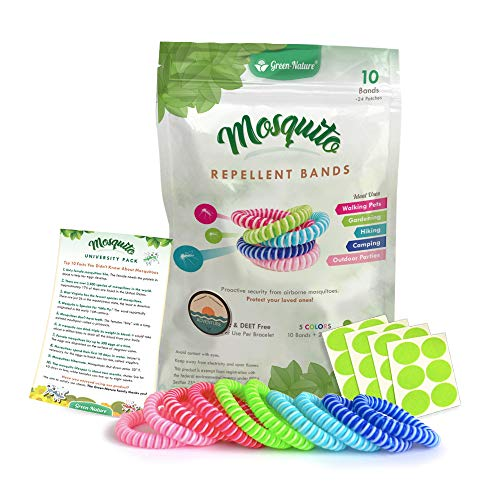Green-Nature Mosquito Repellent Bands for Kids,Adults & Pets,100% Natural Deet-Free Waterproof...