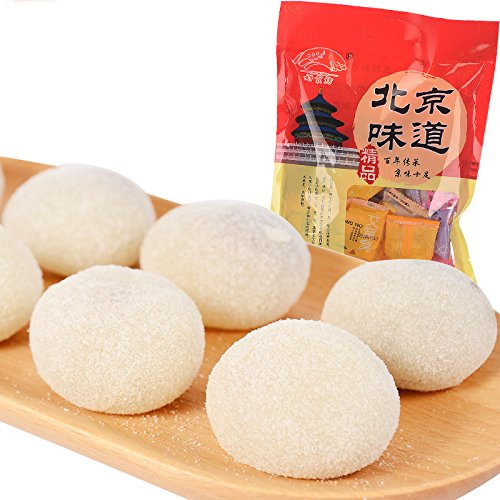 Old Beijing Specialty: Glutinous Rice Balls Aiwowo Steamed Rice Cakes with Sweet Stuffing with Four Flavors (500g/17.6oz)
