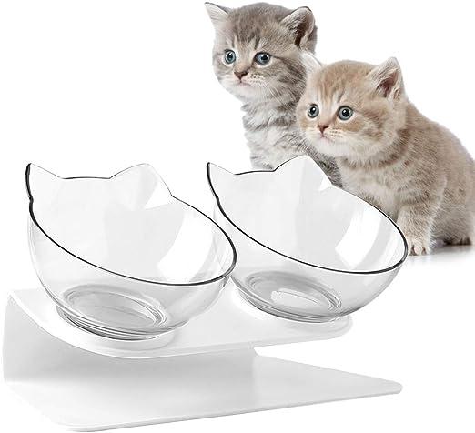Cicony Comedero para Mascotas con Soporte, Cuenco Elevado para ...