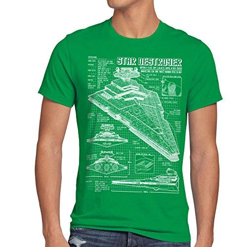 Empire Dessin n Vert Homme Bleu T A t Stellaire Destroyer shirt pdBzq