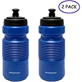 GREENIC Cycling Water Bottle 2 Pack for Camping Hiking Hydration, BPA Free Collapsible Sports Bottle