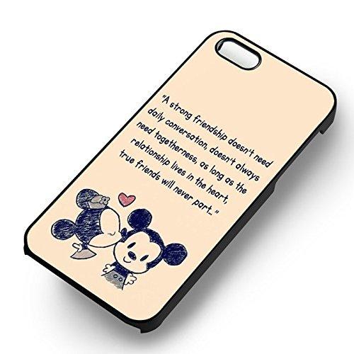 Mickey et Minnie Quote Art pour Coque Iphone 6 et Coque Iphone 6s Case (Noir Boîtier en plastique dur) S7M9SM