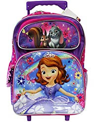 Disneys Sofia The First Rainbow Magic Full Size Rolling Backpack (16in)
